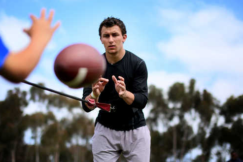 Johnny Manziel Shows He Can Throw Accurately… While Blindfolded