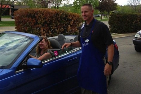 Gary Andersen Works at Culver's (VIDEO)