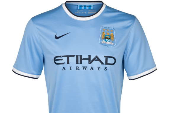 Man City Officially Unveil Home Kit for the 2013-14 Season [PHOTOS]
