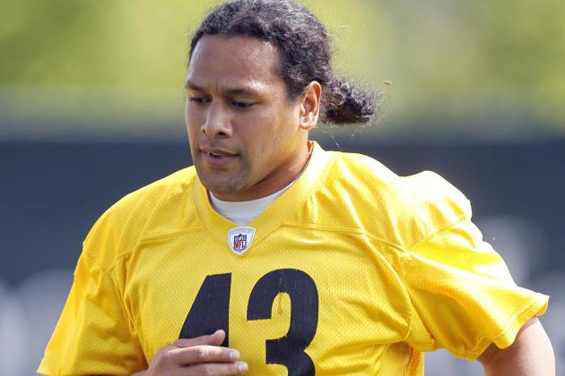 Steelers' Polamalu Trim, Fit as He Arrives for OTAs