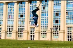 Seriously: 15 Backflips in a Row on a Pogo-Stick