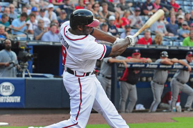 Justin Upton out vs. Twins