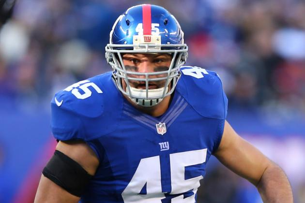 New York Giants FB Henry Hynoski Carted off Field During First OTA Practice