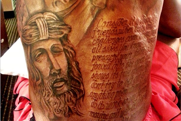 Kevin Durant Unveils Massive Back Tattoo