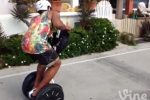 Cam Newton Celebrates B-Day by Riding a Segway in Weird Clothes