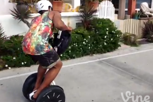 Cam Newton Riding a Segway