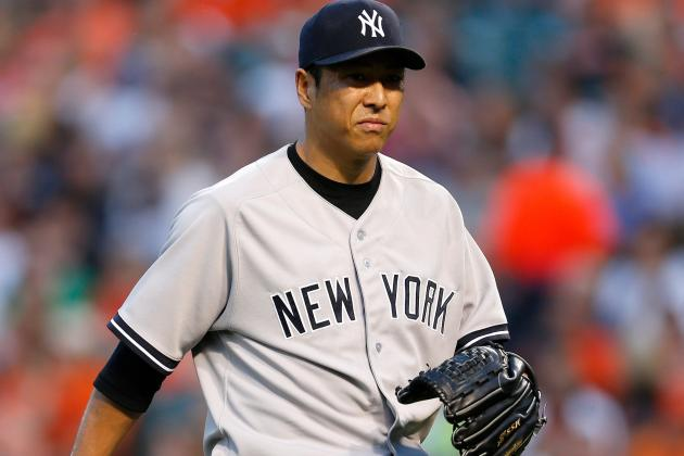 Yankees Announce That Kuroda Left Due to Calf Injury