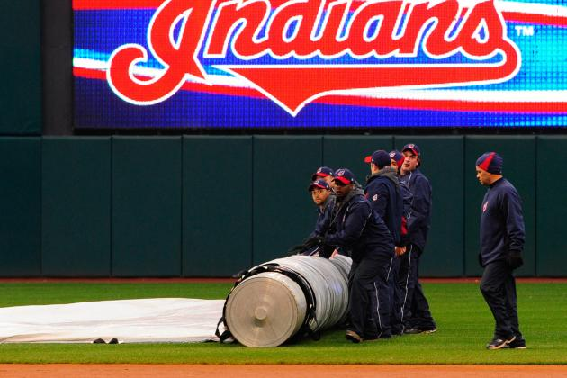 Tigers and Indians in Rain Delay After 5 Inning