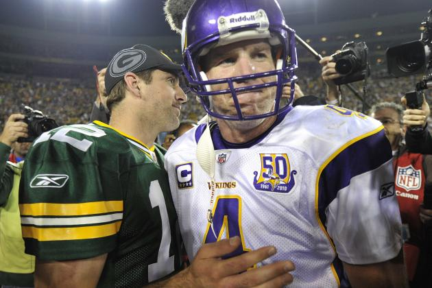 Aaron Rodgers Says He Hopes Favre Returns to Retire Number
