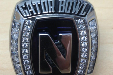 Photo: Northwestern's Gator Bowl Championship Ring