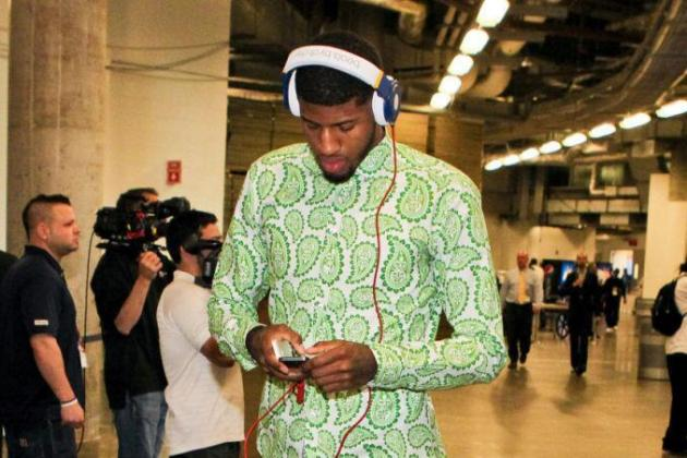 Paul George's Outfit Last Night Was a Sea of Microorganisms and Regret