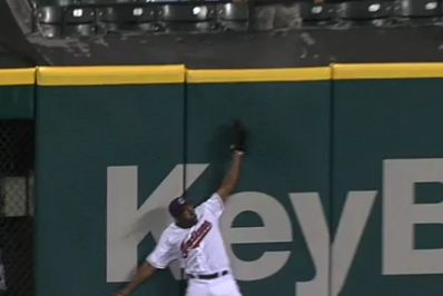 Watch: Bourn Gifts Cabrera a HR