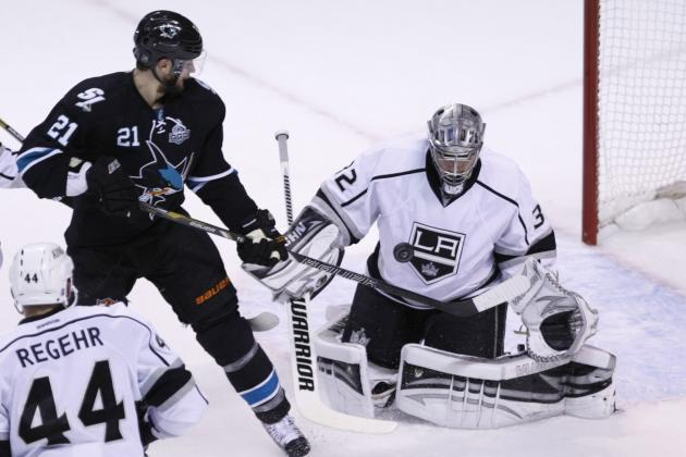 Sharks Forward TJ Galiardi Has Harsh Words for Kings' Goalie Jonathan Quick