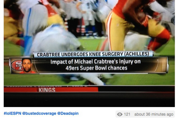 ESPN Intern Can't Figure Out Where Michael Crabtree's Achilles Is Located
