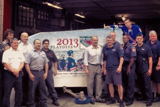 Instagram: Rangers Hang with FDNY Ladder Company 3