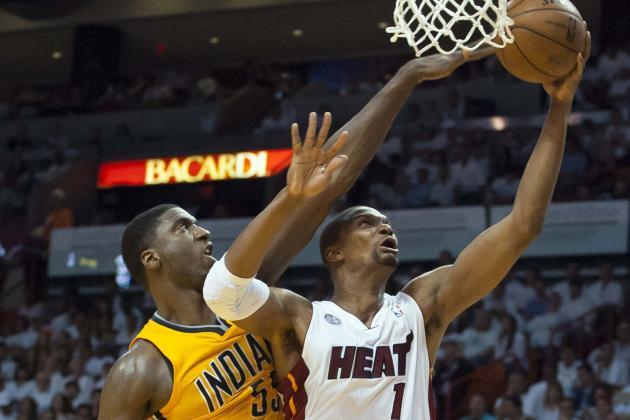 Why Chris Bosh-Roy Hibbert Matchup Is Definitive X-Factor in Pacers-Heat Series
