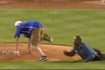 Fan Rushes Field, Eludes Security to Steal Rosin Bag