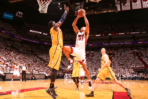 Roy Hibbert on Game 1 Knee-to-Groin: 'Battier Knew What He Was Doing'