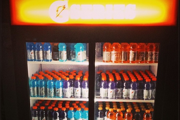 Dwyane Wade Has a Cooler Filled with 400 Gatorades in His House