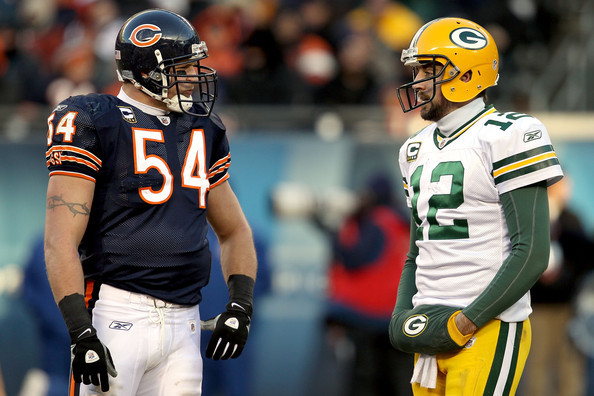 Pack's Rodgers: Urlacher Favorite Opponent