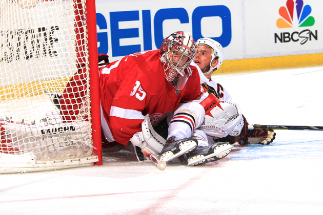 Detroit vs. Chicago: How Jimmy Howard Is Manhandling the Vaunted Blackhawks