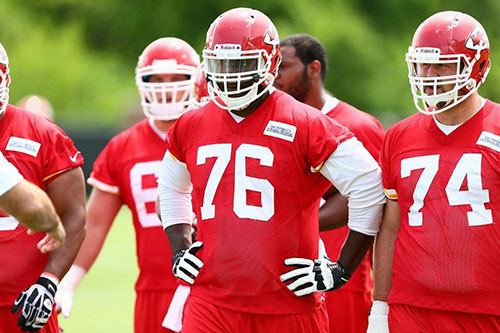 Chiefs OL Learning New System Twice as Fast