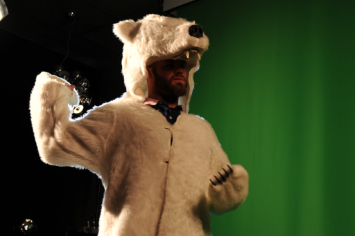 Evan Gattis Rocks Polar Bear Costume as Legend of El Oso Blanco Grows