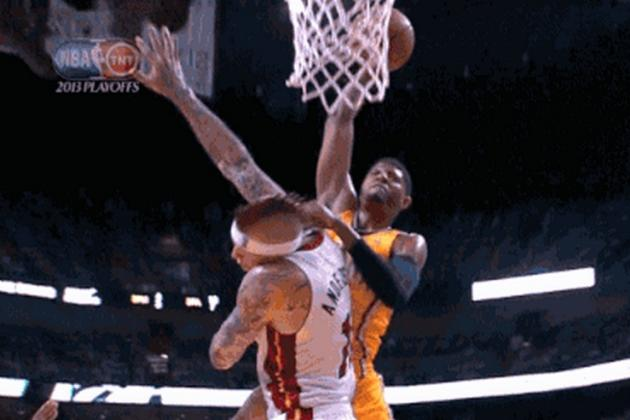 Paul George Dunks All Over Birdman