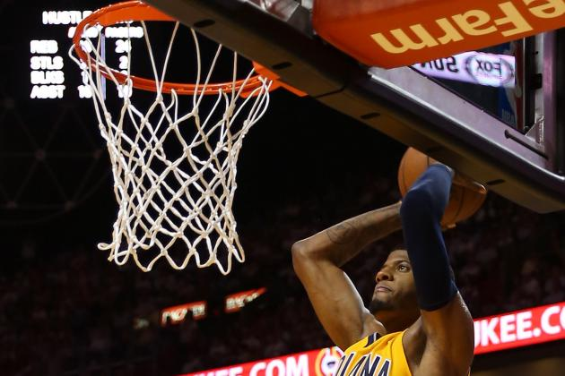 Watch: George Throws Down Poster Dunk