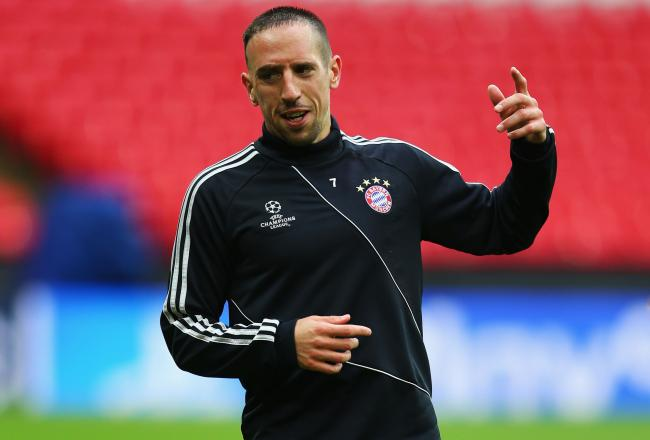 Ahhhhhhhhhhhhhh! Oh, sorry...it's just Bayern Munich's Franck Ribery.