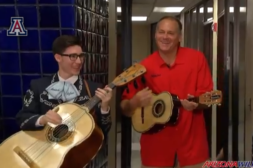 VIDEO: Rich Rodriguez Surprised with Mariachi Band for Birthday