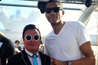 Nicolas Batum Gets Duped by Fake PSY at Cannes Film Festival