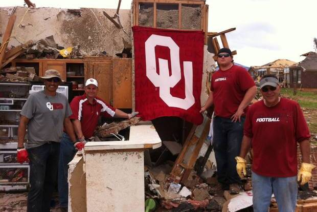 Castiglione, OU Athletic Personnel Help out in Moore's Neighborhood