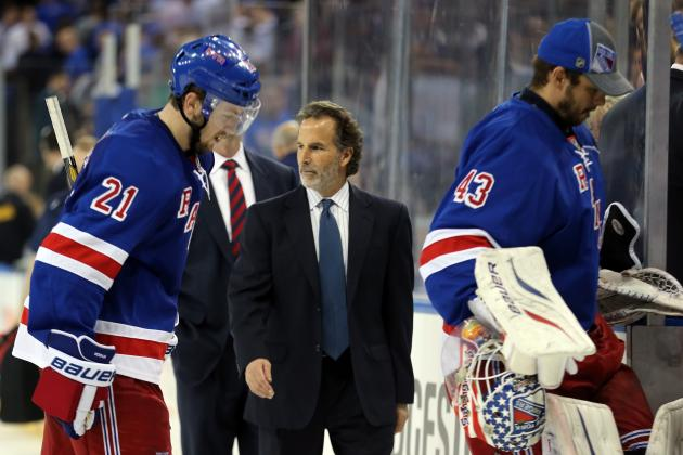 Tortorella Takes 'Some' Responsibility as Rangers' Season Comes to an End