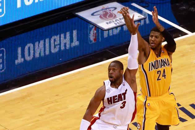 Paul George on Dwyane Wade's Elbow: 'It Was an Uncalled for Play'