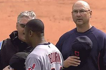 Terry Francona's Argument with an Umpire Is Interrupted by 'God Bless America'