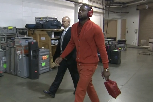 Dwyane Wade Rocks Man Purse, Full Orange Outfit Before Heat-Pacers Game 3