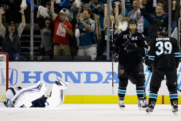 VIDEO: Jonathan Quick Tosses Puck at Logan Couture After Collision