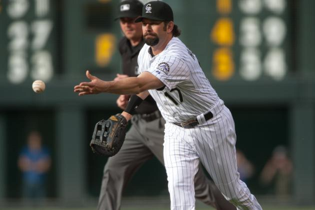 Todd Helton out of Lineup Today vs. Astros