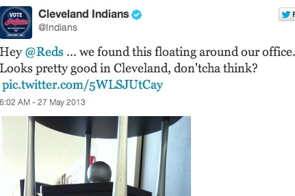 Indians, Reds Trade Twitter Jabs