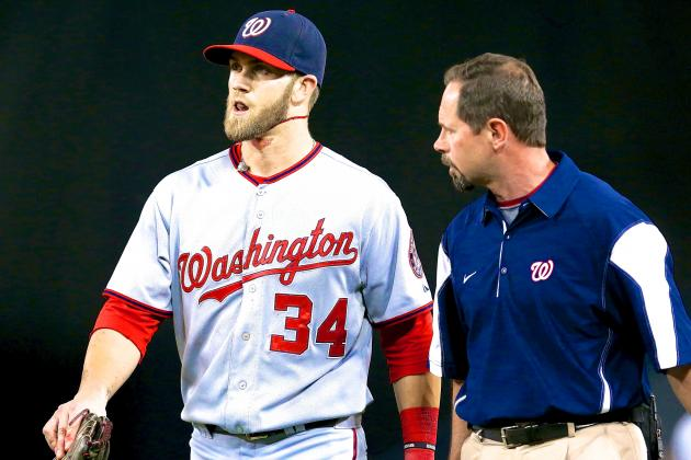 Bryce Harper Out of Nationals Lineup, Diagnosed with Bursitis in Left Knee