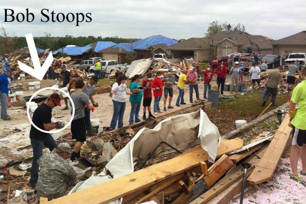 Bob Stoops Shows Up to Clean Up Tornado Debris, Goes Unnoticed for Half Hour
