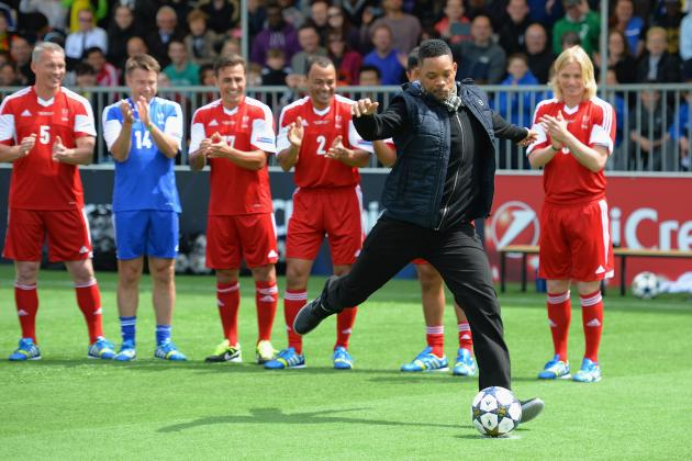 Will Smith Launches Worst Soccer Kick Ever