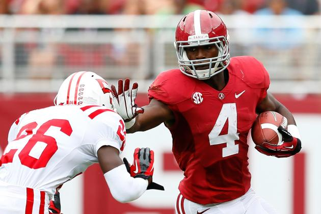 Alabama Football: Projecting T.J. Yeldon's Production In His Sophomore Season