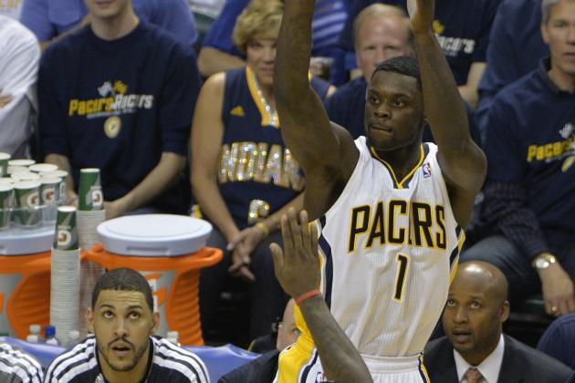 Lance Stephenson Nails Corner 3-Pointer to End Third Quarter