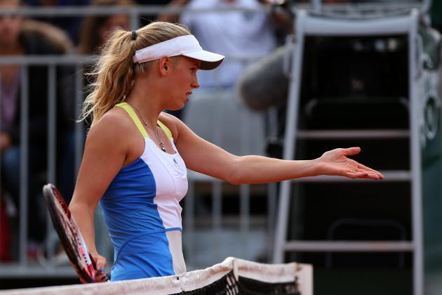 Caroline Wozniacki Eliminated by Bojana Jovanovski at 2013 French Open