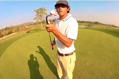 French Golfer Juggles, Spins and Amazes in Golfing Trick Video