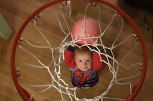 VIDEO: Gregg Marshall Eyeing 2-Year Old Trick Shot Artist