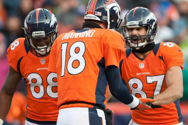 Broncos' Receivers Say Peyton Manning's Arm Is Stronger