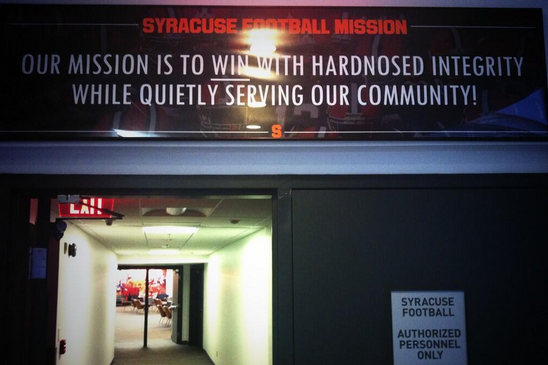Photo: Scott Shafer Reveals Syracuse's Mission Statement